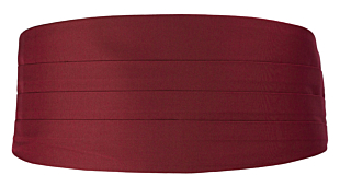 SOLID Burgundy smokkivyö