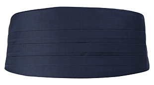 SOLID Navy blue smokkivyö