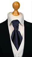 SOLID Navy blue plastron